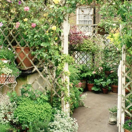 Garden structures trellis and arch walkway Garden