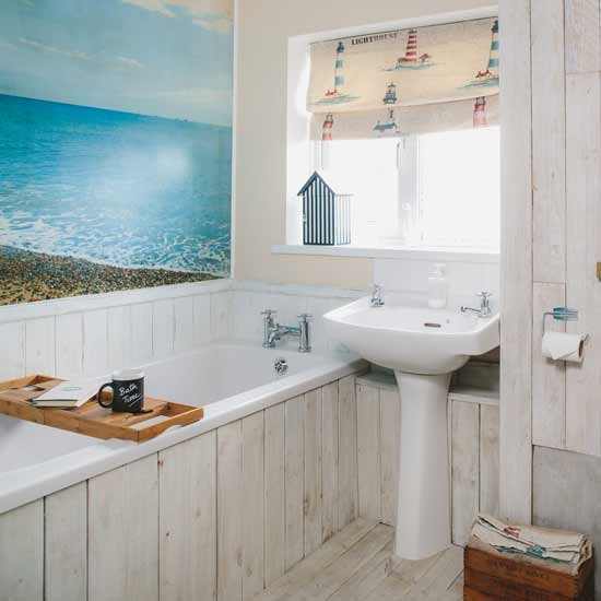 Nautical bathroom ideas for Beach inspired bathroom designs