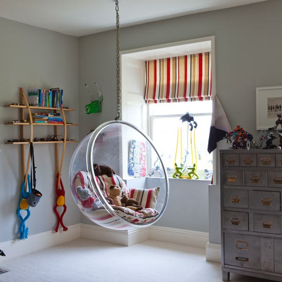 Playroom With Hanging Perspex Chair Playroom Ideas