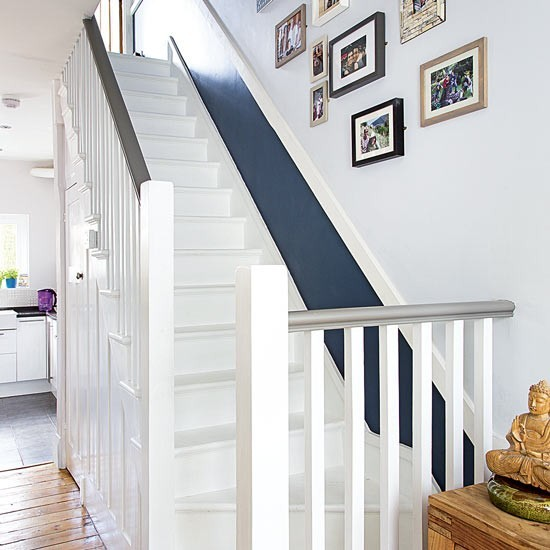 Painted stairs with grey dado : Painted stairs : housetohome.co.uk