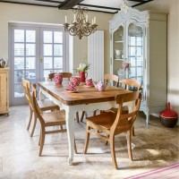 Modern country dining room with Chinese influence