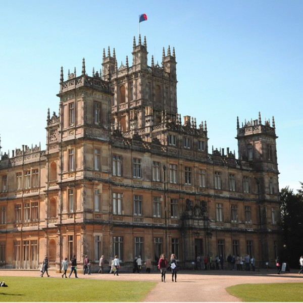 downton abbey highclere castle interiors tour