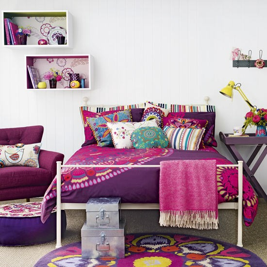 Purple Bedroom Designed For Teens With Pops Of Punchy Pink Purple Bedroom I
