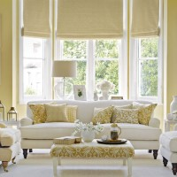 Traditional living room with old gold and white colour scheme