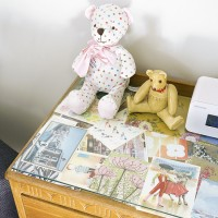 Display drawers with soft toys