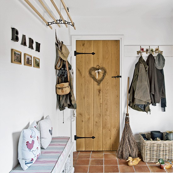 Country cottage style hallway with smart storage - Country cottage hallways ...