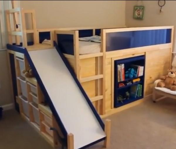 Ikea Hack Fun Child 39 S Bedroom With Slide
