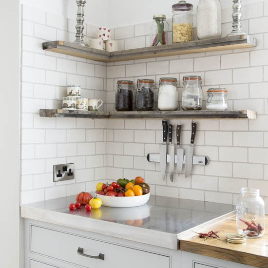 Neutral Kitchen With Shelves Best Kitchen Shelving Ideas