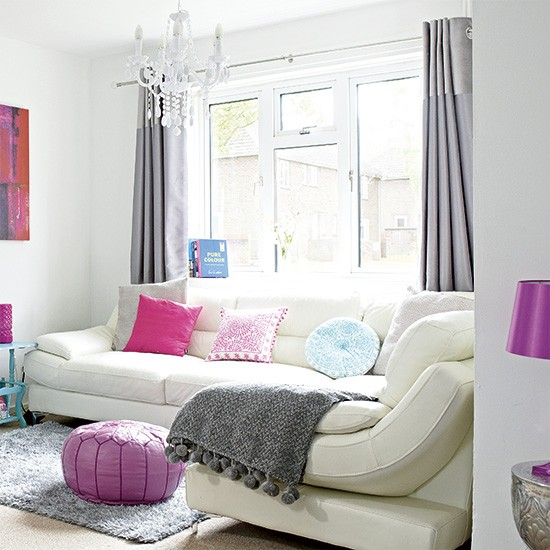 White Leather Sofa Rooms: White Living Room With White Leather Sofas