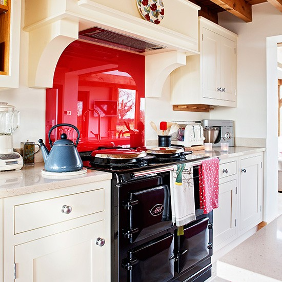 Be Inspired By This Country Kitchen Diner With Red