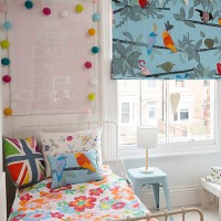 Child's fun bedroom filled with pattern and colour