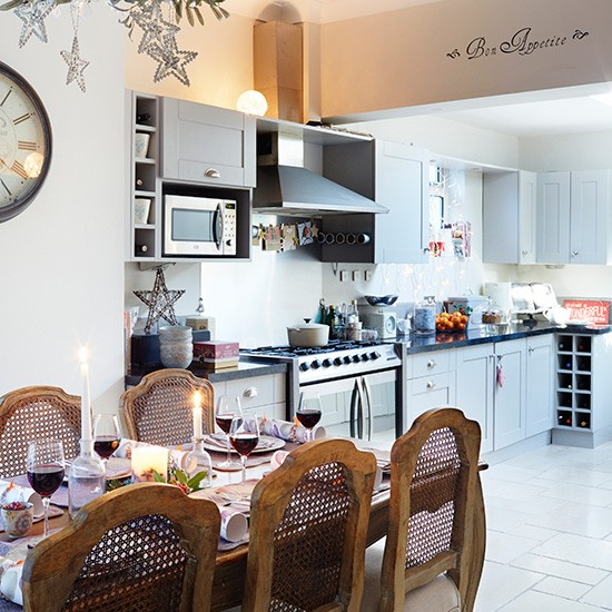 Country Kitchen With Provencal Style Dining Table