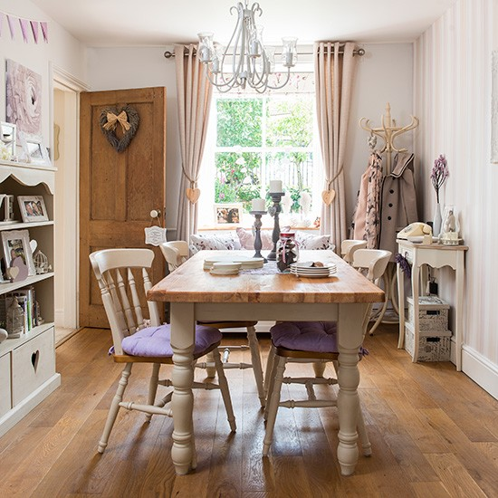 Country Dining Room With Wood Floor Housetohome Co Uk