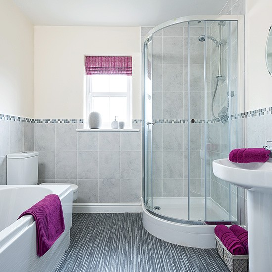 Modern Bathroom With Pink Accessories