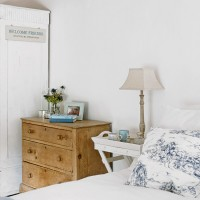 White country bedroom with shabby chic furniture