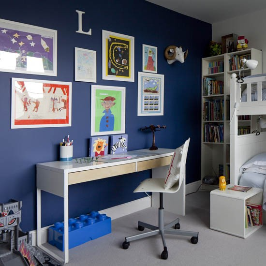 Gallery wall in a boy 39 s bedroom boys bedroom ideas and for Room decor ideas for boy
