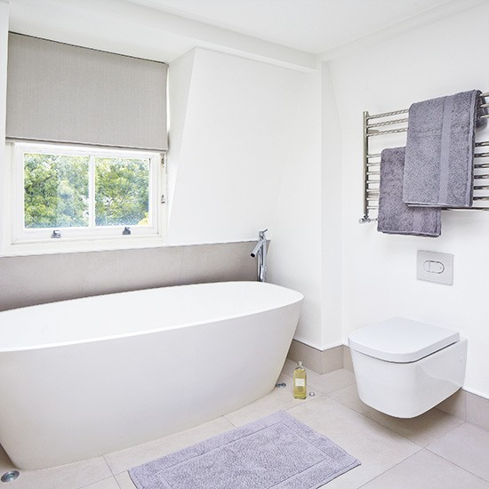 Boutique style bathroom with white fittings and fixtures for Toilet fixtures and fittings