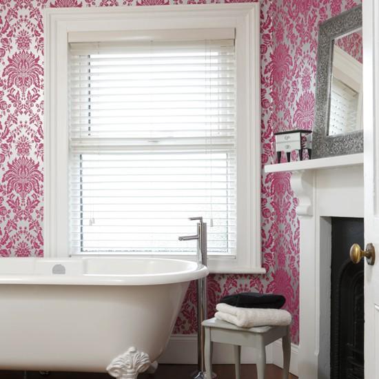 think fuchsia pink bathroom wallpapers housetohome co uk