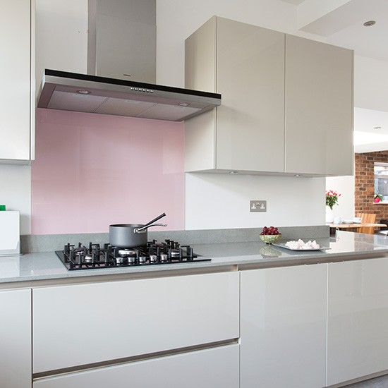 Contemporary Kitchen With Grey Handleless Cabinetry And