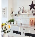 6 ways to add colour to an all white kitchen