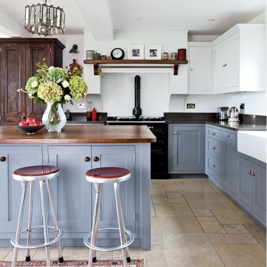 Open Kitchen With Island Bar Modern Kitchen Island Design: Be Inspired By This Replanned 1890s Property