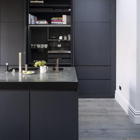 Matt grey kitchen grey kitchens for Dark grey kitchen units
