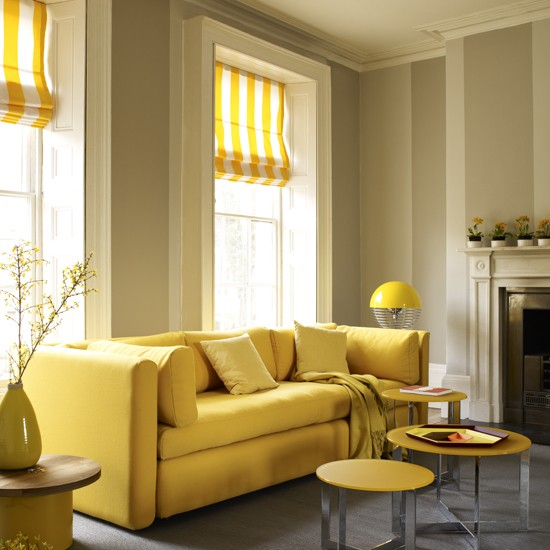 Eggyolk Yellow Room Living Room Colour Schemes 10 Of