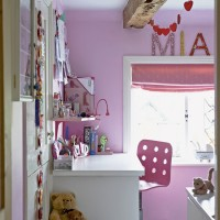 Child's room with sugar pink walls