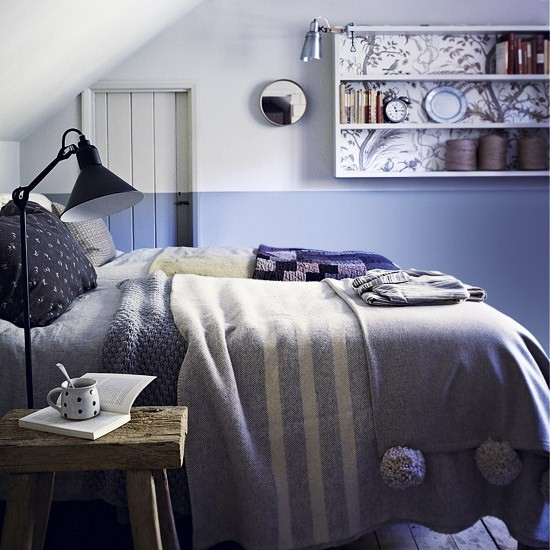 Bedroom Arrangement For Small Spaces Bedroom Blue Bedroom Design Tips Unusual Bedroom Wallpaper: Feature Wall With Painted Dado Effect