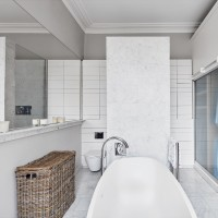 Combined family bathroom and dressing room