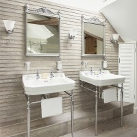 His and hers basins with Georgian mirrors