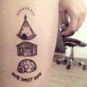 Cute tattoo designs for home lovers