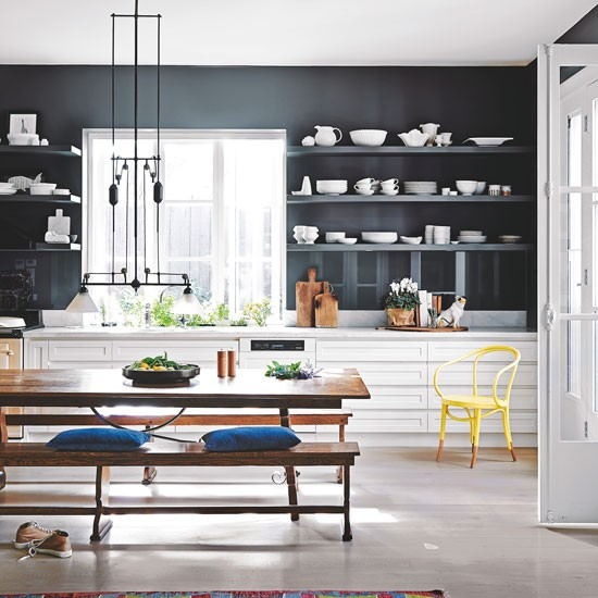Navy Kitchen With Industrial Style