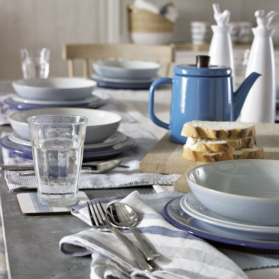 Navy kitchen table setting navy kitchen ideas for Kitchen table setting ideas