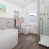 Be inspired by this modern bathroom makeover