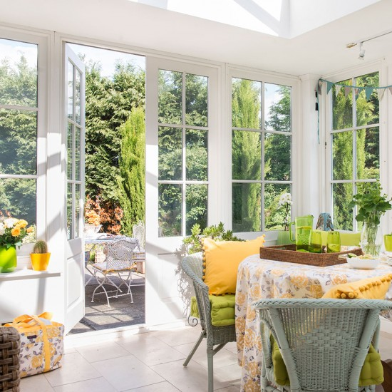 Take a look around this bright and inspirational for Conservatory dining room design ideas