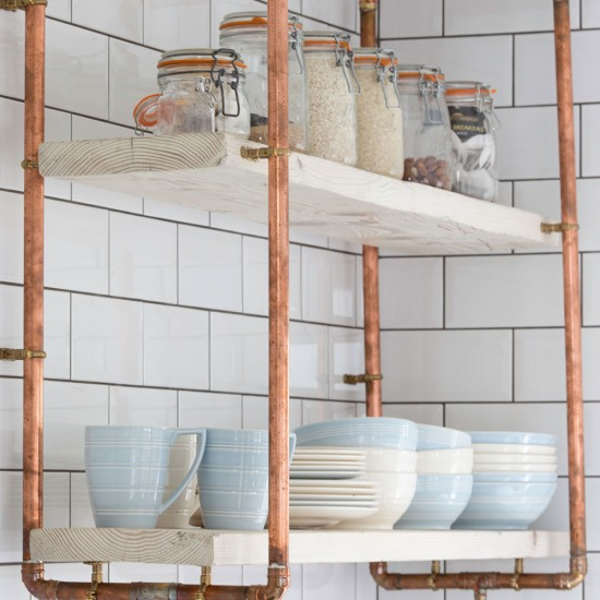Pipe Shelf Kitchen: Take A Look Around This Industrial
