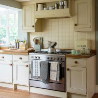 Country cream kitchen with stainless-steel range