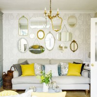 Compact living room with retro mirror gallery