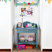 Children's bedroom with decorated alcove