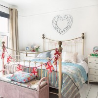 Shabby chic bedroom with ditsy floral details