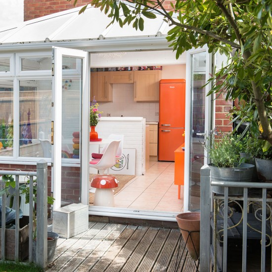 Dining Room Extension With Decked Kitchen Garden Area