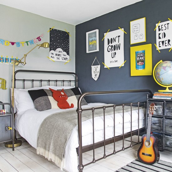 Boys Bedroom With Feature Wallpaper: Take A Peek Inside This Colourful Family Home