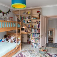 Children's bedroom with bunk beds and bespoke storage