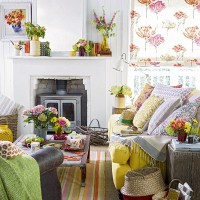 Colourful living room with summery shades