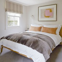 Welcoming guest bedroom in neutral tones and subtle textures