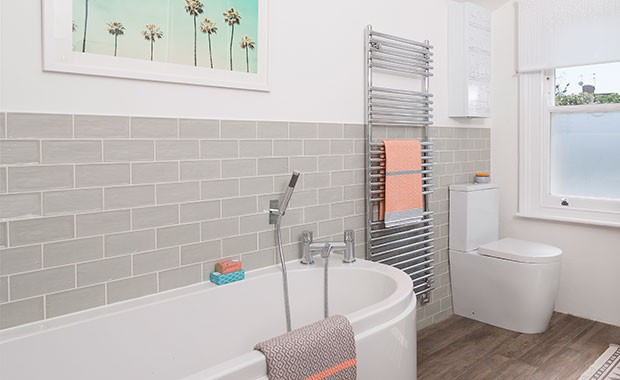 Be inspired by this cool bathroom update