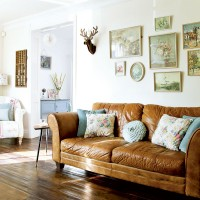Vintage country living room with kitsch display