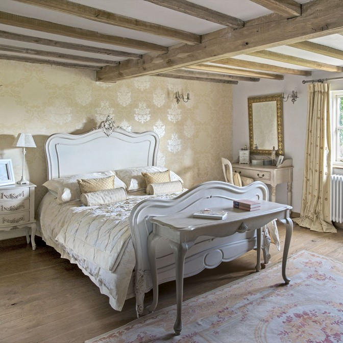 Regency-style French country bedroom