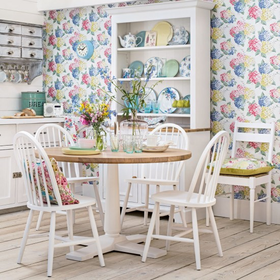 Modern Country Floral Kitchen